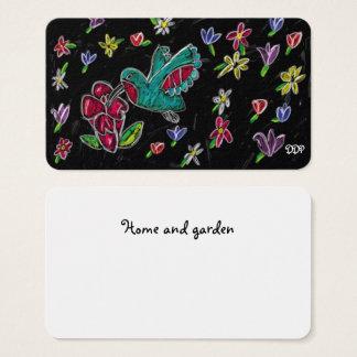 hummingbird art business card