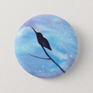 Hummingbird At Night 6 Cm Round Badge