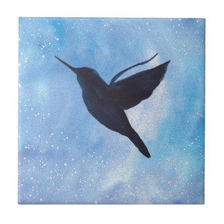 Hummingbird At Night Ceramic Tile
