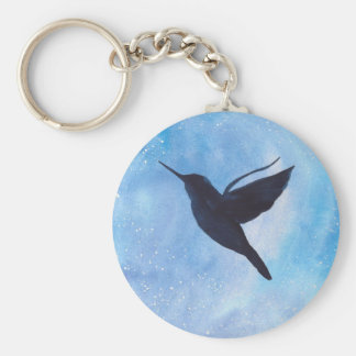 Hummingbird At Night Key Ring
