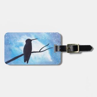 Hummingbird At Night Luggage Tag