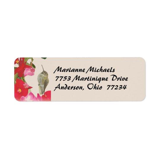 Hummingbird Avery Label