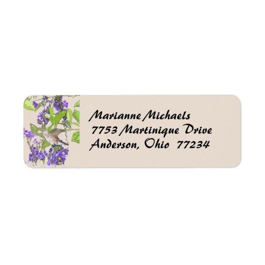 Hummingbird Avery Label Return Address Label
