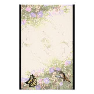 Hummingbird Bird Animal Wildlife Floral Custom Stationery