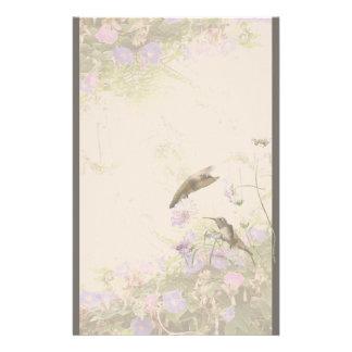 Hummingbird Bird Animal Wildlife Floral Customized Stationery
