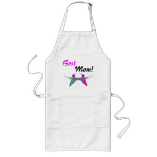 hummingbird Bird Animal Wildlife Floral Long Apron