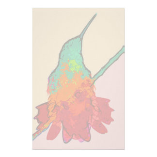Hummingbird Bird Animal Wildlife Floral Personalised Stationery