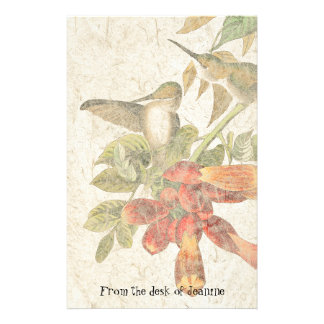 Hummingbird Bird Faux Handmade Paper Stationery