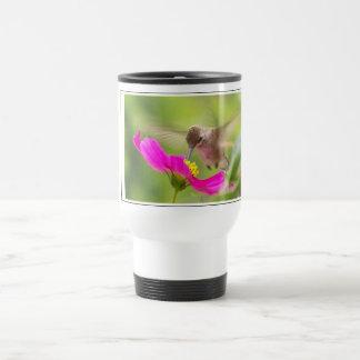 Hummingbird Bird Wildlife Animal Floral Travel Mug