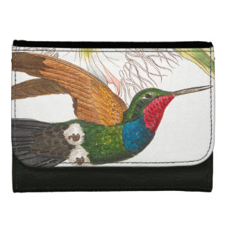 Hummingbird Bird Wildlife Animals Flowers Wallet