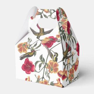 Hummingbird Bird Wildlife Floral Favor Box Party Favour Box