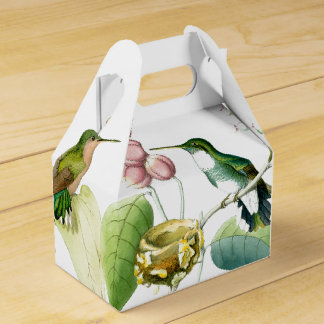 Hummingbird Bird Wildlife Floral Favor Box Wedding Favour Boxes
