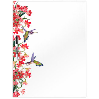 Hummingbird Birds & Amarylis Flowers Floral Board