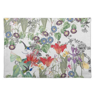 Hummingbird Birds Animal Flower Garden Placemat