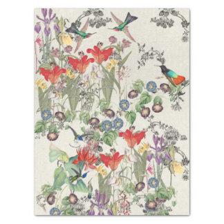 Hummingbird Birds Flower Garden Tissue Paper