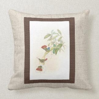 Hummingbird Birds Flowers Floral Throw Pillow