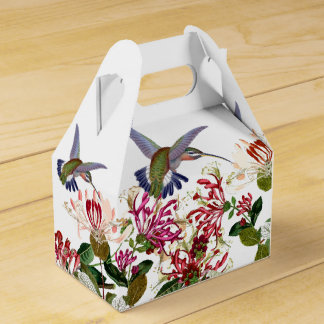 Hummingbird Birds Honeysuckle Flower Floral Favour Box