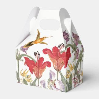 Hummingbird Birds Lily Flowers Garden Favor Box