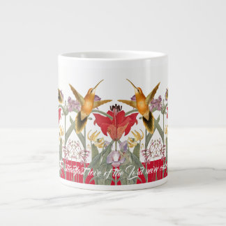 Hummingbird Birds Lily Flowers Gods Love Jumbo Mug