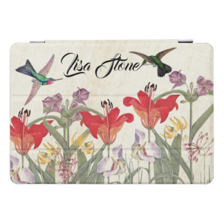 Hummingbird Birds Lily Flowers iPad Pro Case