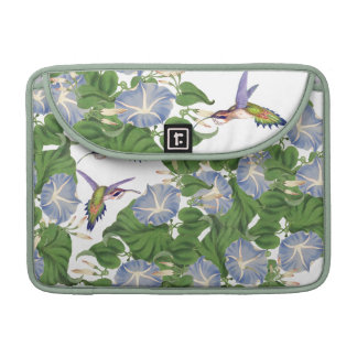 Hummingbird Birds Morning Glory Flowers Floral Sleeves For MacBooks
