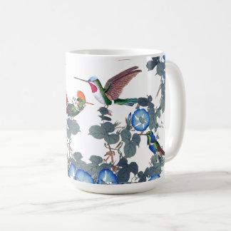 Hummingbird Birds Morning Glory Flowers Mug