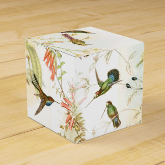 Hummingbird Birds Wildlife Animals Flowers Floral Favour Box