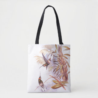 Hummingbird Birds Wildlife Animals Leaves Tote Bag