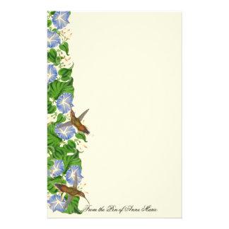 Hummingbird Birds Wildlife Flowers Floral Custom Stationery