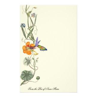 Hummingbird Birds Wildlife Flowers Floral Customised Stationery
