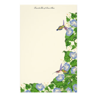 Hummingbird Birds Wildlife Flowers Floral Stationery