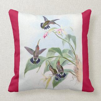 Hummingbird Birds Wildlife Flowers Throw Pillow