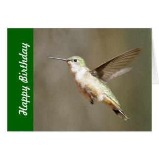 Hummingbird Birthday Card