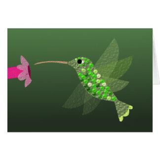 Hummingbird Blank Notecard