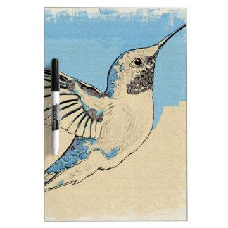 Hummingbird Blue 2 Dry Erase Board