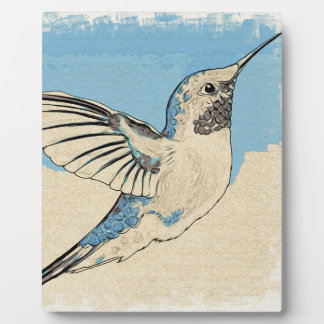 Hummingbird Blue 2 Plaque
