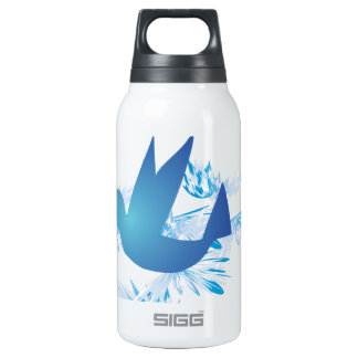 Hummingbird Blue Insulated Water Bottle