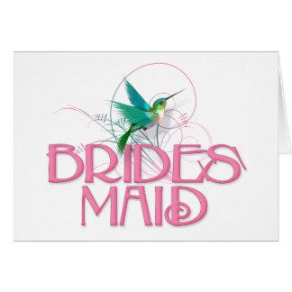 Hummingbird Bridesmaid Greeting Card