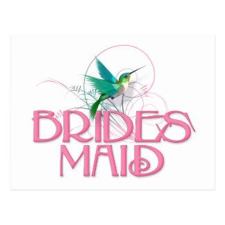 Hummingbird Bridesmaid Postcard