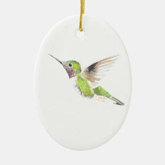 Hummingbird Ceramic Oval Decoration
