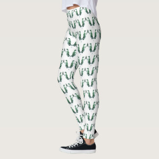 Hummingbird Chevron Pattern Leggings