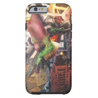 Hummingbird clockwork city steampunk collage tough iPhone 6 case