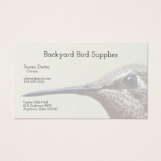 Hummingbird closeup business card