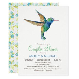 Hummingbird Couples Shower Invitation