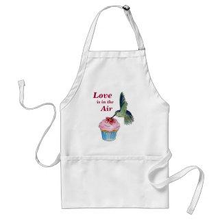 Hummingbird Cupcake Love is in the Air Standard Apron