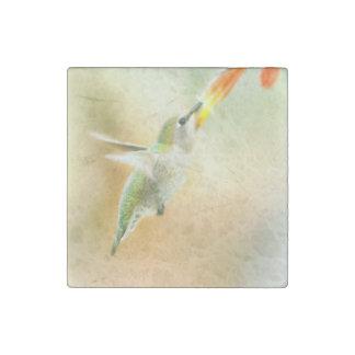 Hummingbird early morning flight stone magnet