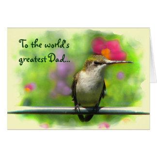 Hummingbird Fathers Day Card