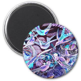 Hummingbird Fine Art 6 Cm Round Magnet