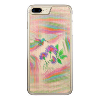 Hummingbird Flight Kaleidoscope Carved iPhone 8 Plus/7 Plus Case