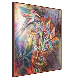 Hummingbird Flight Soft Pastels Art Canvas Print